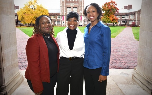 From left, professors Vetta Sanders Thompson,Carol Camp Yeakey and Anjanette Wells have written a book called Urban Ills: 21st Century Complexities of Urban Living in Global