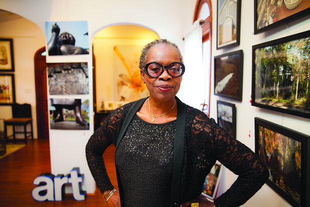 Frieda L. Wheaton, Washington University in St. Louis School of Law alum, photographer and curator of Salon53 and founder of the Alliance of Black Art Galleries.  Photograph by Kevin A. Roberts