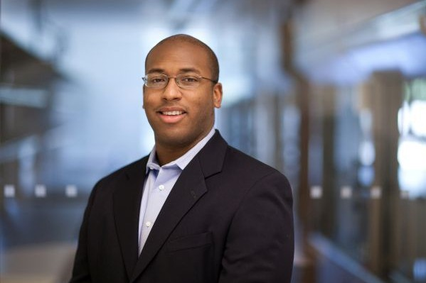 Marcus Foston, assistant professor in the Department of Energy, Environmental & Chemical Engineering at Washington University in the School of Engineering & Applied Science.