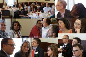 Collage of faculty in a First Positions session