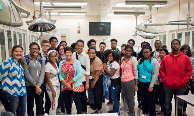 Pictured are high school students who participated in this summer's Junior Scientist Institute at the School of Medicine.
